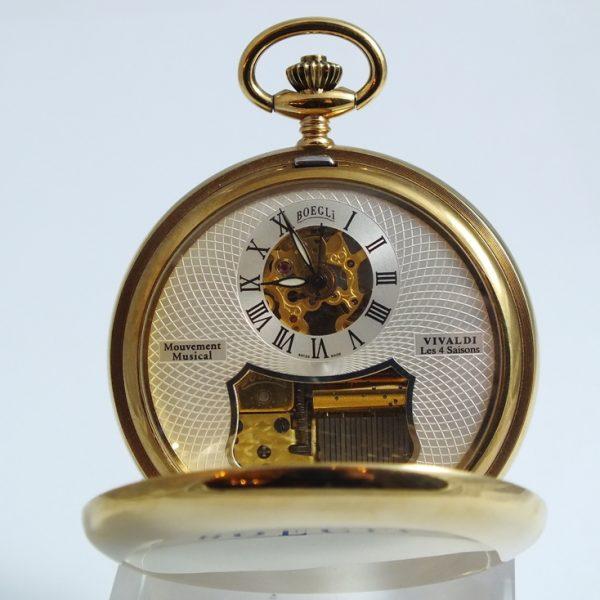 Boegli M70R, luxusné pánske vreckové hodinky s melódiu od Vivaldiho, Štyri ročné obdobia