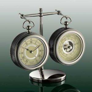 Dalvey barometer a hodiny so stojanom set