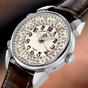 Cuervo Y Sobrinos Historiador Semanal retro pánske hodinky