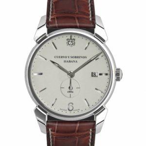 Cuervo Y Sobrinos Pequeňos Segundos pánske retro hodinky