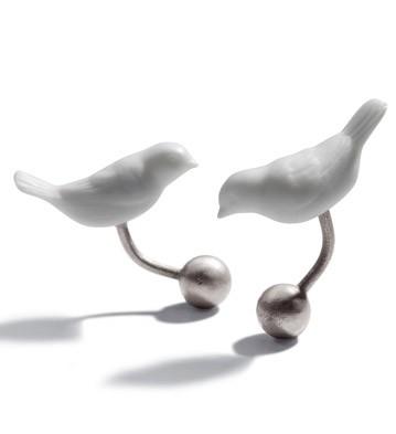 Manžetové gombíky - Vtáčiky