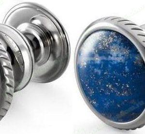 Dalvey Button Lapsi Lazuli manžetové gombíky
