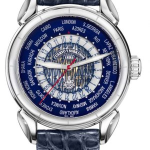 Cuervo Y Sobrinos Vuelo Horas Del Mundo unisex náramkové hodinky