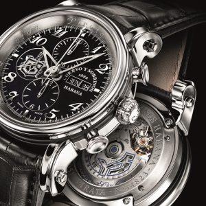 Cuervo Y Sobrinos New Pirata Torpedo Stell Chrono pánske hodinky